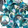 Acrylic Rivoli Flat Back Rhinestones 14mm Aqua Aurora Borealis 200pcs/bag
